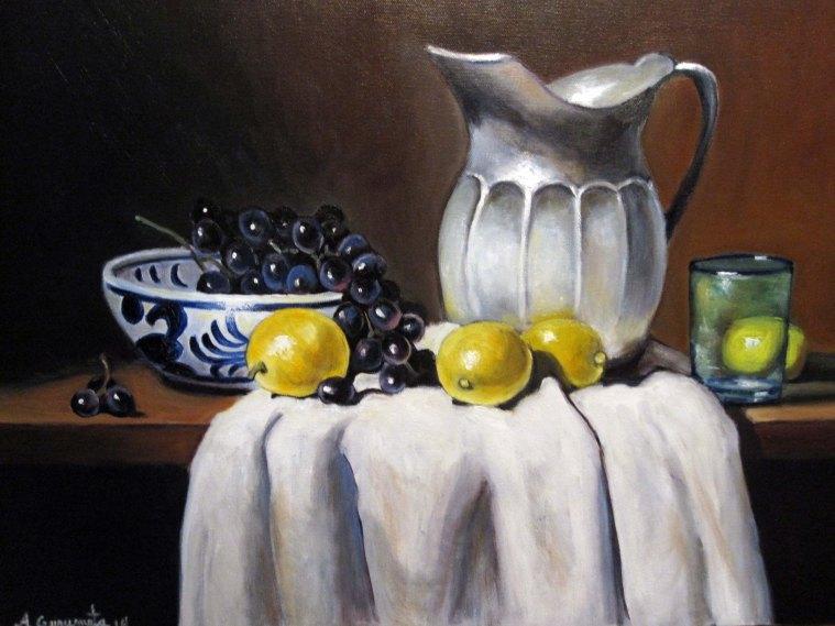 "Limones y Plata 18"" x 24"""