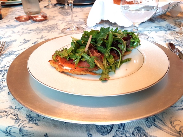Salmon French supper club