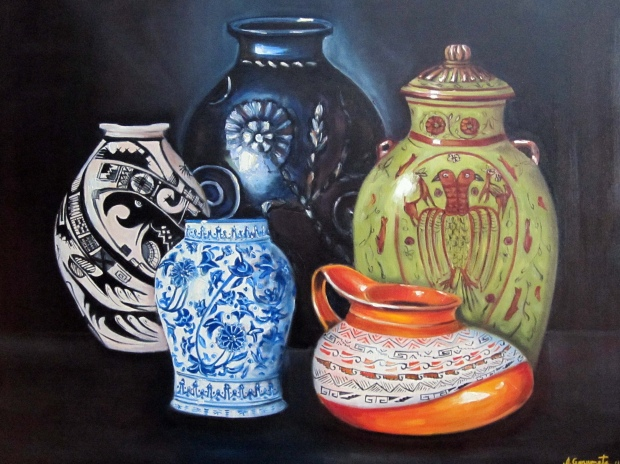 mexican pots oil on canvas 30''x40'' $ 1,600